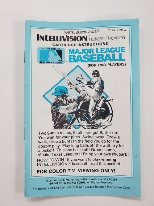 Major League Baseball (I)
