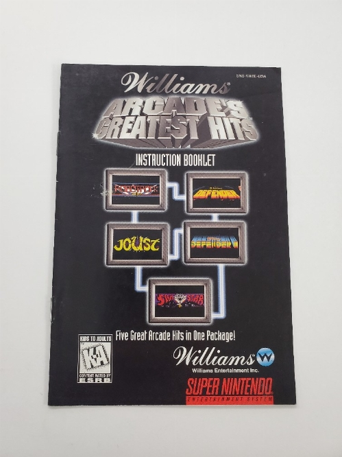 Williams Arcade's Greatest Hits (I)