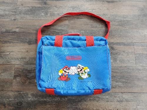 Super Mario Bros. 1990 Blue Travel Bag