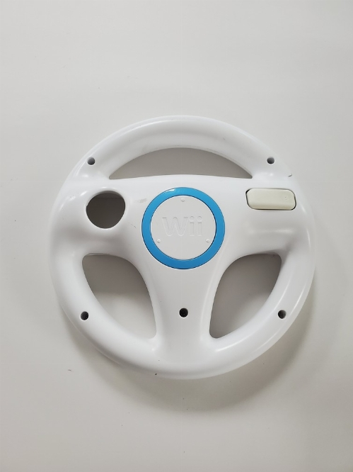 Official Mario Kart White Steering Wheel for Wii