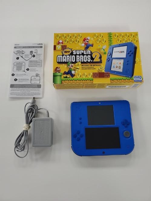 Nintendo 2DS Electric Blue New Super Mario Bros. 2 Bundle (CIB)