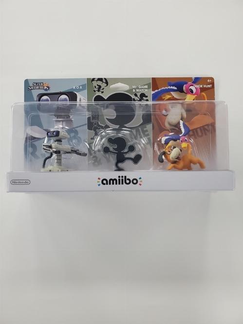 R.O.B. - Mr. Game & Watch - Duck Hunt Retro 3 Pack (Super Smash Bros. Series) (NEW)