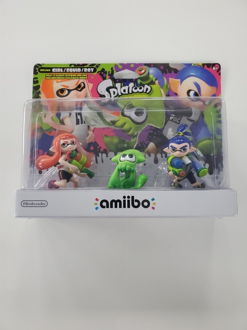 Inkling Girl - Inkling Squid - Inkling Boy Splatoon 3 Pack (Splatoon Series) (NEW)