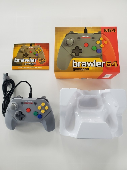 Nintendo 64 Retro Fighters Brawler Controller (CIB)