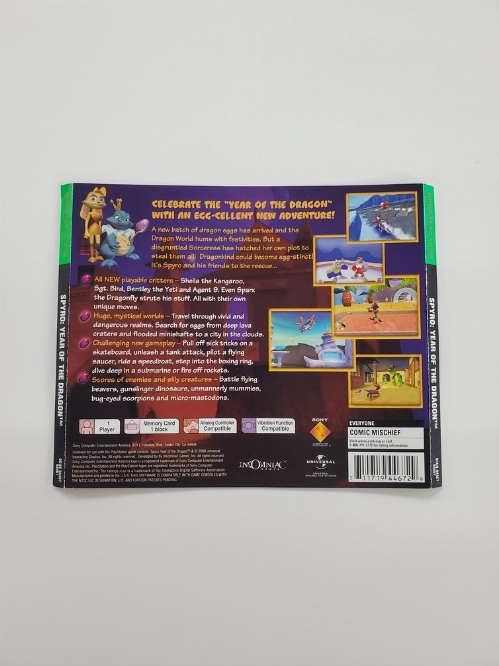 Spyro: Year of the Dragon (Greatest Hits) (B)