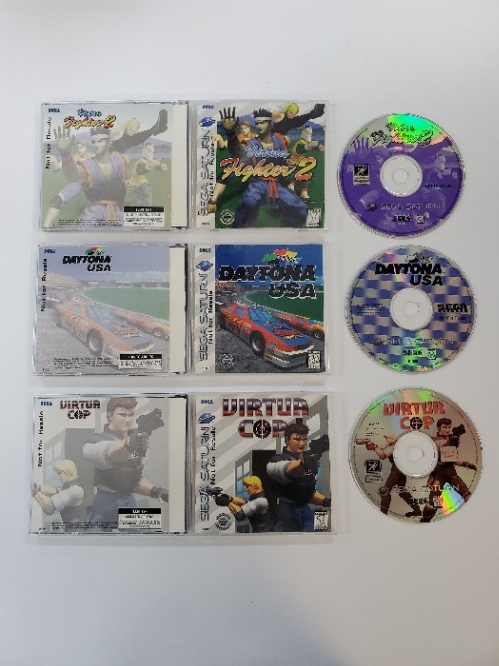Virtua Fighter 2 - Virtua Cop - Daytona USA [Not For Resale Pack] (CIB)
